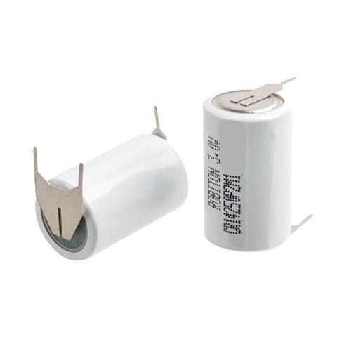 Li-MnO2 1/2AA 650мАч с плоскими выводами под пайку Пром.упаковка