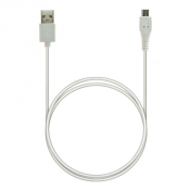 P5 USB A - MicroUSB, Charge&Sync, 1м белый