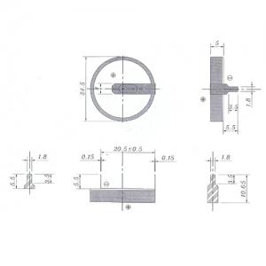 Литиевый элемент CR2450 под пайку Пром.упаковка