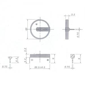Литиевый элемент CR2032 под пайку Пром.упаковка