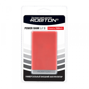 ROBITON POWER BANK Li7.8-R красный
