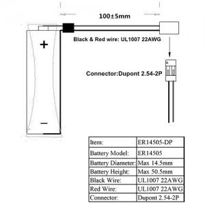 LSC AA 2400мАч Dupont 2.54мм Пром.упаковка