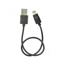 P16 USB A - 8pin (AppleLightning), 0,3м черный